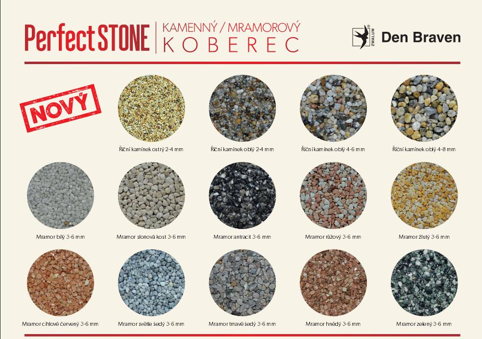 Mramorové kamínky pro kamenný koberec PerfectStone