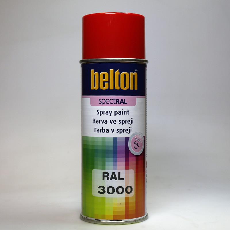 Belton SPECTRAL barva ve spreji RAL 3000 červená ohnivě lesklá 400 ml