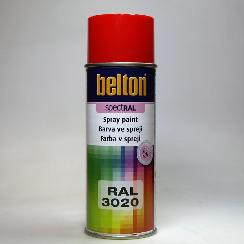 Barva ve spreji Belton SPECTRAL RAL 3020 červená dopravní