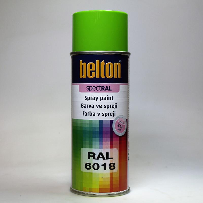Barva ve spreji Belton SPECTRAL RAL 6018 zelenožlutá