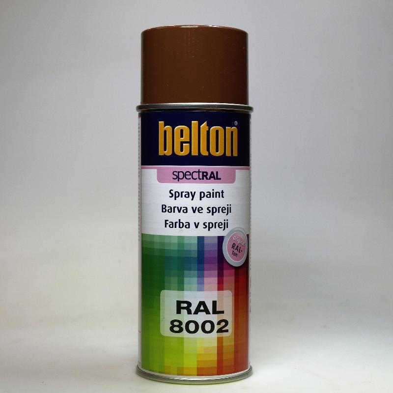 Barva ve spreji Belton SPECTRAL RAL 8002 hnědá signální
