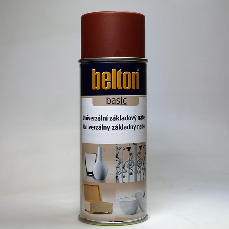 Belton BASIC univerzální základový nátěr ve spreji červenohnědý
