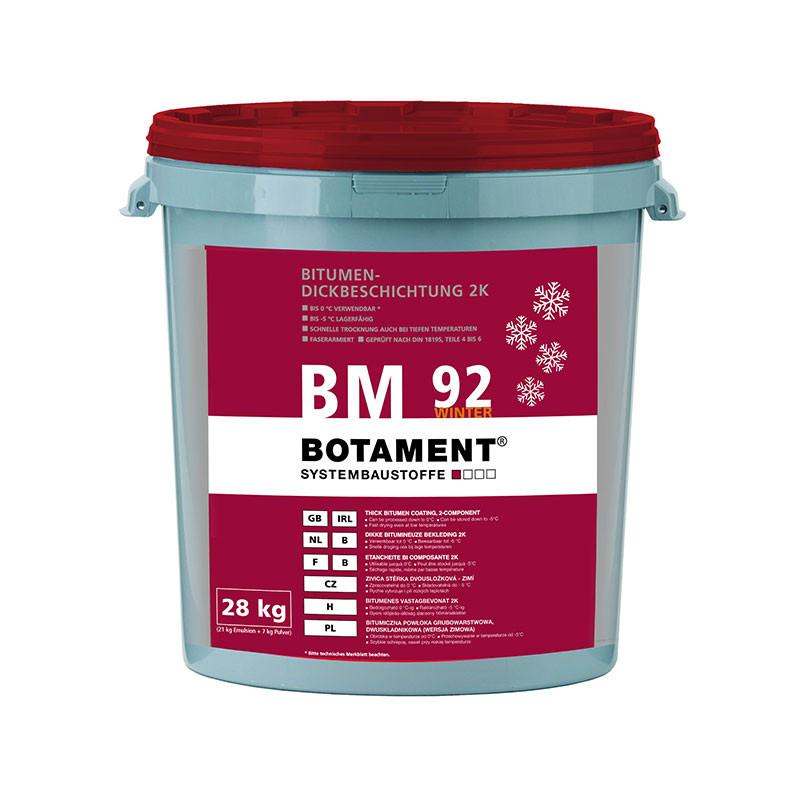 Živičná stěrka dvousložková zimní BOTAMENT BM 92 Winter 28 kg