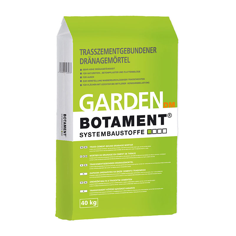 Drenážní malta s trasovým cementem BOTAMENT Garden DM 40 kg