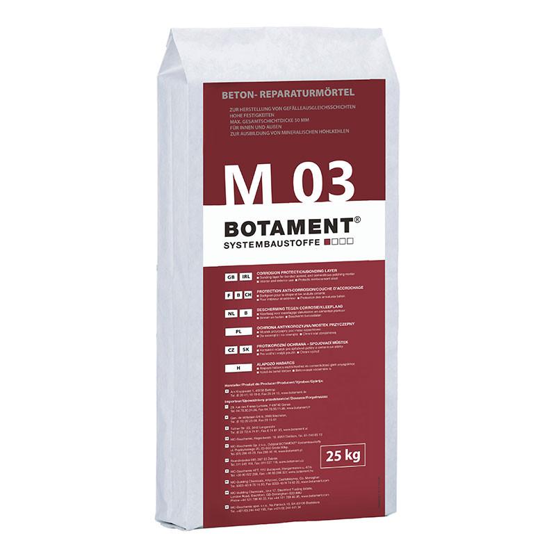 Opravná směs na betonové konstrukce BOTAMENT M 03 25 kg