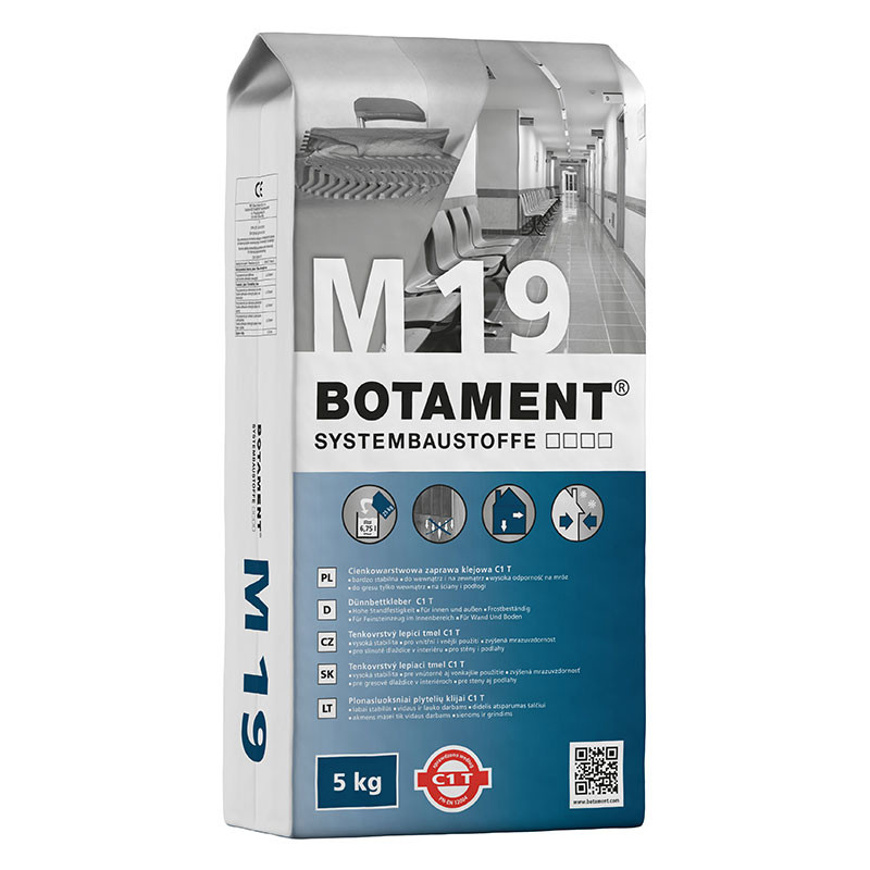 Tenkovrstvý lepicí tmel BOTAMENT M 19 5 kg