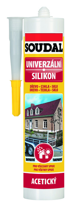 Univerzální silikon SOUDAL šedý 280 ml