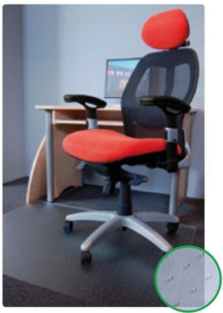 Podložka pod židli transparentní 110X120cm s nopy