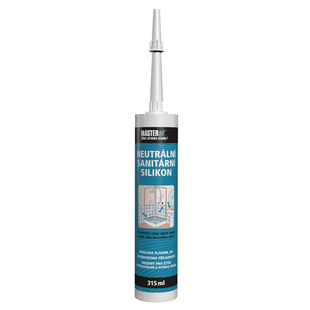 Sanitární neutrální silikon MASTERsil bílý 315 ml