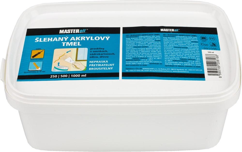 Šlehaný akrylový tmel MASTERsil bílý 500 ml