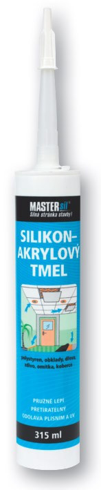 Silikon - akrylový tmel MASTERsil bílý 315 ml