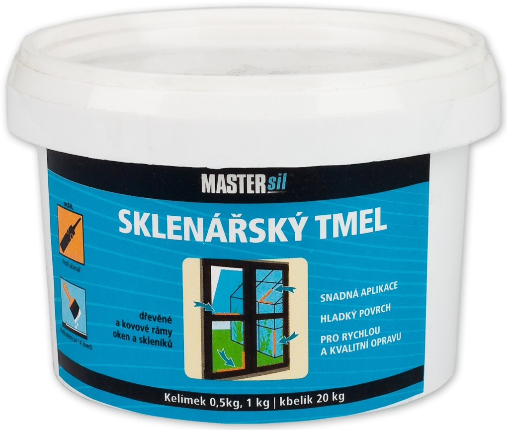 Sklenářský tmel MASTERsil béžový 0,5 kg