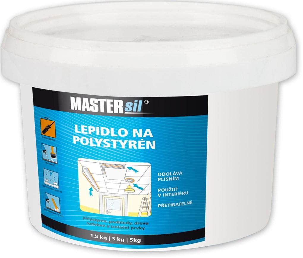 Lepidlo na polystyren MASTERsil bílé 1,5 kg