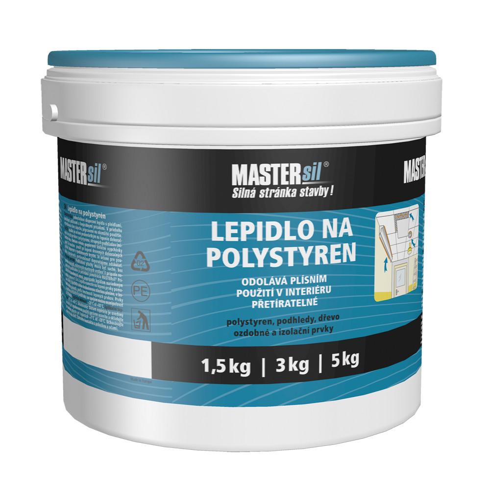 Lepidlo na polystyren MASTERsil bílé 4 kg