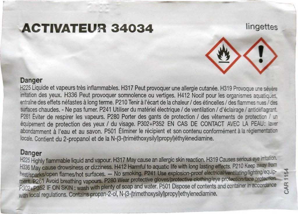 Aktivační ubrousek 34034 pro PU EXPRES